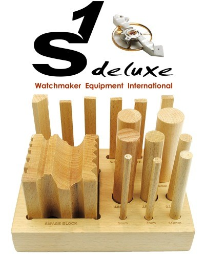 Wooden doming dapping swage block set S1 Deluxe DomeXX-16