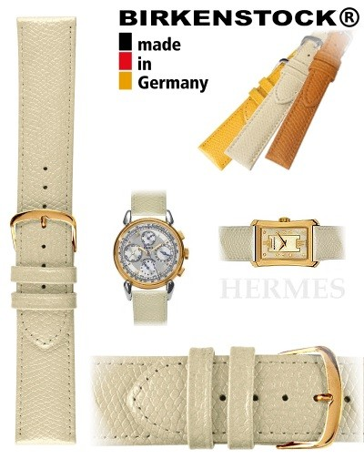 Birkenstock watch strap HERMES creme 14mm golden