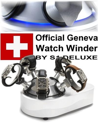 Official Geneva watch winder FIVE WHITE