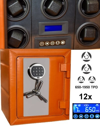 Safewinder® MASTER 120 OR Watch Safe & 12 watch winder