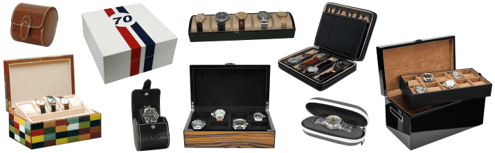 Watch case leather high quality watch box watches collector boxes leather wood winder