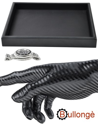 BULLONGÈ CARBONIO display tray for watches and jewelry