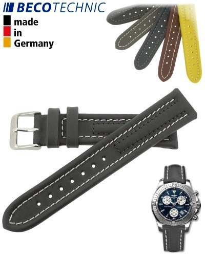 Beco Technic Watch Strap 22mm anthracite / steel