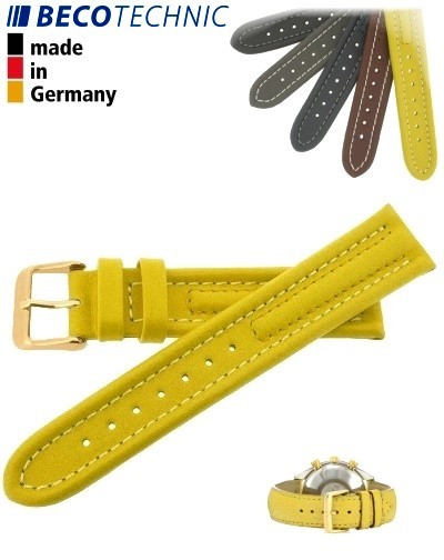 Beco Technic Watch Strap 22mm yellow / gold