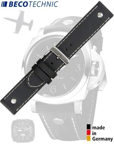 Beco Technic CHRONO Watch Strap 26mm black