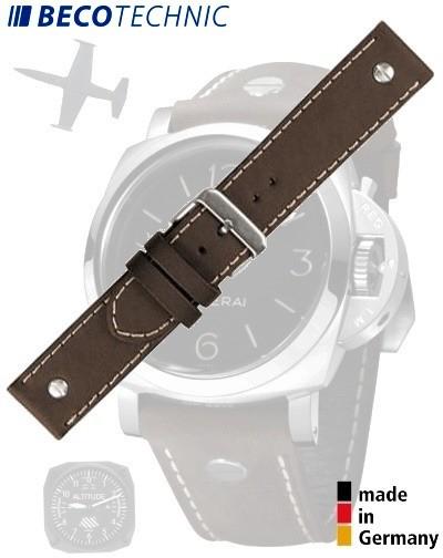 Beco Technic CHRONO Watch Strap 22mm brown