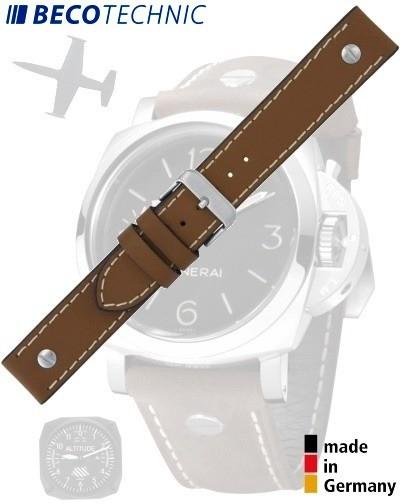 Beco Technic CHRONO Watch Strap 22mm light brown