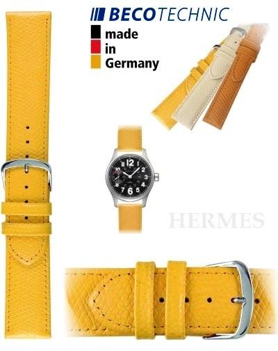 Beco Technic watch strap HERMES yellow 22mm steel