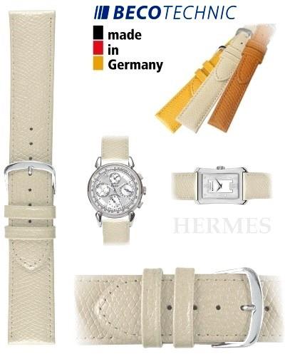 Beco Technic watch strap HERMES creme 22mm steel