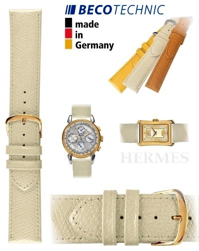 Beco Technic watch strap HERMES creme 22mm golden