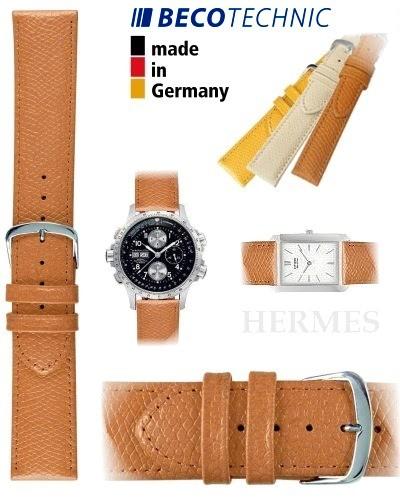 Beco Technic watch strap HERMES honey 16mm steel