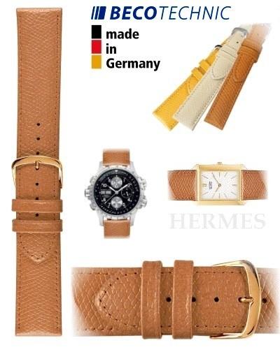 Beco Technic watch strap HERMES honey 16mm golden