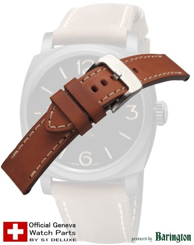 Panerai-style watch strap ROYAL AERONAUTICAL brown 26