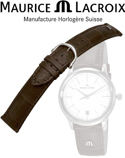 Maurice Lacroix watchstrap LOUISIANA brown / steel 16
