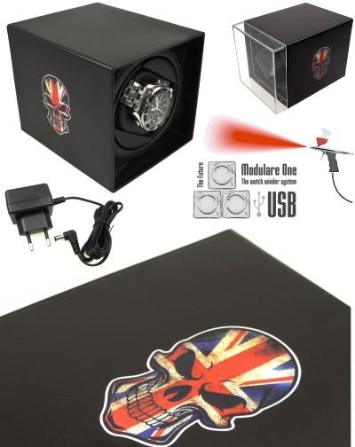 MODULARE ONE USB SKULL UK watch winder PRO